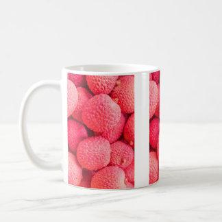 Pretty Pink Lychee Fruit Pattern Coffee Mug