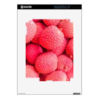 Pretty Pink Lychee Fruit Pattern iPad 2 Decal