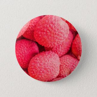 Pretty Pink Lychee Fruit Pattern Pinback Button