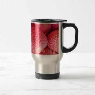 Pretty Pink Lychee Fruit Pattern Travel Mug