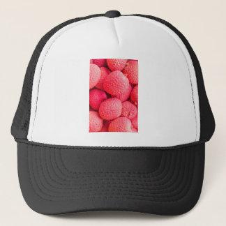 Pretty Pink Lychee Fruit Pattern Trucker Hat