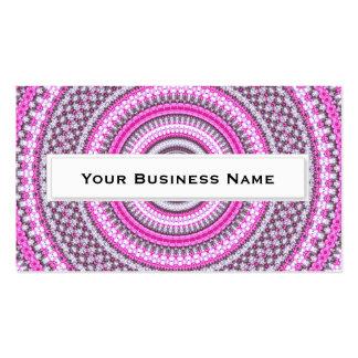 Pretty Pink Mandala Kaleidoscope Business Cards