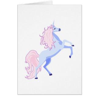 pretty pink mane unicorn greeting card