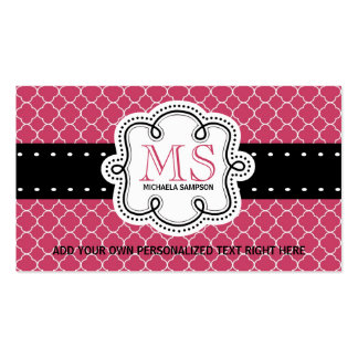 Pretty Pink Mod Girly Ladies Calling Card