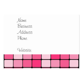 Pretty Pink Mosaic Tile Pattern Gifts for Her Business Cards