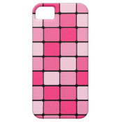 Pretty Pink Mosaic Tile Pattern Gifts for Her iPhone 5 Covers