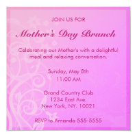 Pretty Pink Mother's Day Brunch Invitation