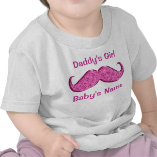 Pretty Pink Mustache Baby Gifts for Girls Tees