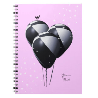 Pretty Pink Notebook with Balloons
