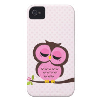 Pretty Pink Owl iPhone 4 Case