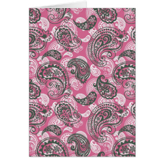 Pretty Pink Paisley Card