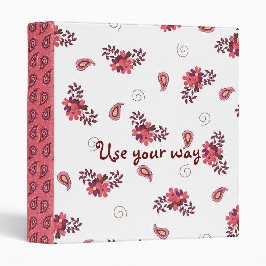 Pretty Pink Paisley Notebook Binder