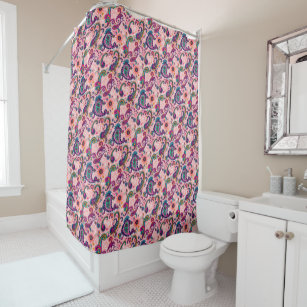 Pretty Pink Paisley Pattern Shower Curtain