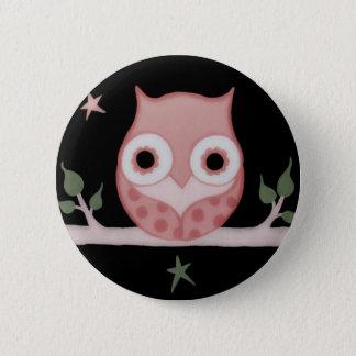 Pretty Pink Pale Owl Pinback Button