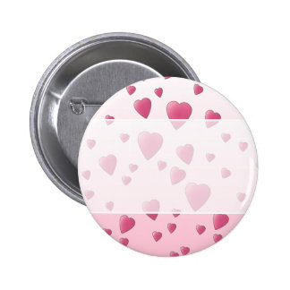 Pretty Pink Pattern of Love Hearts. Buttons