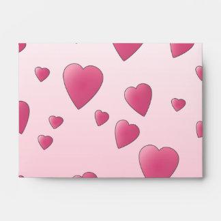 Pretty Pink Pattern of Love Hearts. Envelope