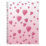 Pretty Pink Pattern of Love Hearts. Notebook