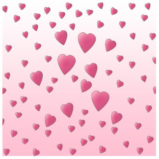 Pretty Pink Pattern of Love Hearts. Photo Cut Out