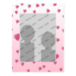 Pretty Pink Pattern of Love Hearts. Post Cards