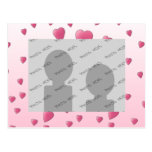 Pretty Pink Pattern of Love Hearts. Postcards