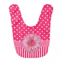 Pretty Pink Patterns and Gerber Daisy Baby Bib