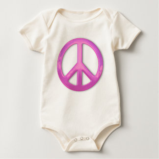 Pretty Pink Peace Sign Baby Bodysuit