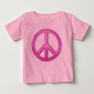 Pretty Pink Peace Sign Baby T-Shirt