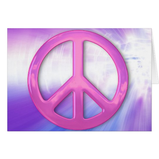 Pretty Pink Peace Sign Card