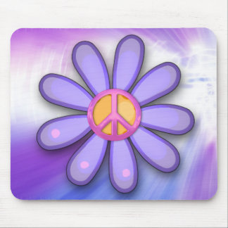 Pretty Pink Peace Sign Mouse Pad