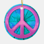 Pretty Pink Peace Sign Ornament