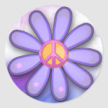 Pretty Pink Peace Sign Stickers