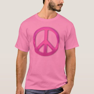 Pretty Pink Peace Sign T-Shirt