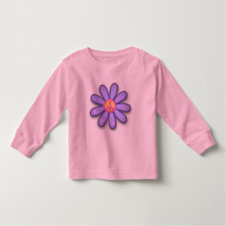 Pretty Pink Peace Sign Toddler T-shirt