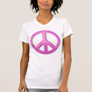 Pretty Pink Peace Sign Shirt