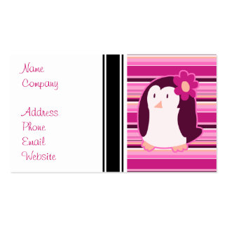 Pretty Pink Penguin Business Card
