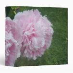 Pretty Pink Peonies Vinyl Binders