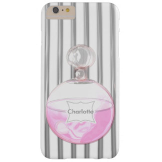 Pretty Pink Perfume Bottle Personalized Barely There iPhone 6 Plus Case