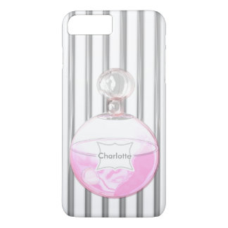 Pretty Pink Perfume Bottle Personalized iPhone 7 Plus Case