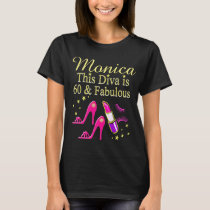 PRETTY PINK PERSONALIZED 60TH BIRTHDAY T SHIRT