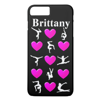 PRETTY PINK PERSONALIZED GYMNASTICS IPHONE CASE
