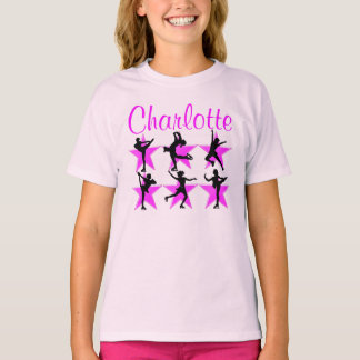 PRETTY PINK PERSONALIZED SKATING STAR TEE