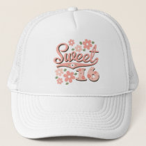 Pretty Pink Petal Sweet 16 Hat