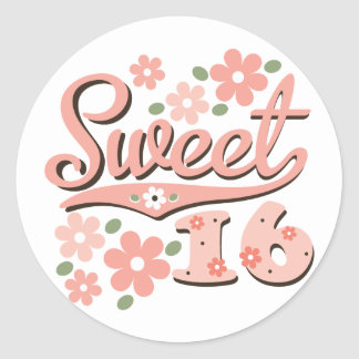 Pretty Pink Petal Sweet 16 Stickers