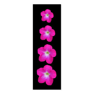 Pretty Pink Petunias Business Card Templates