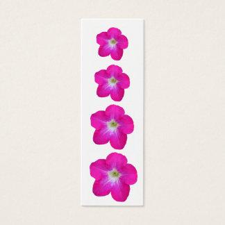 Pretty Pink Petunias Mini Business Card