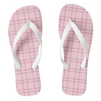 Pretty Pink Plaid Flip Flops
