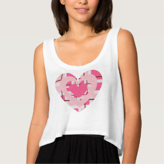 PRETTY PINK & PLAID HEARTS GIRLY T-SHIRT