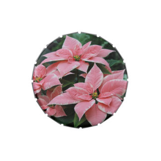 Pretty Pink Poinsettia Candy Tin