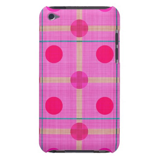 Pretty Pink Polka Dot Plaid iPod Touch Cover
