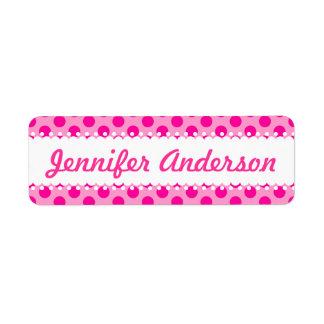 Pretty Pink Polka Dots - Custom Name Labels